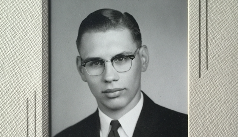 Roger Bultena's high school graduation photo.