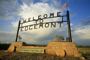 Edgemont, S.D. welcome sign