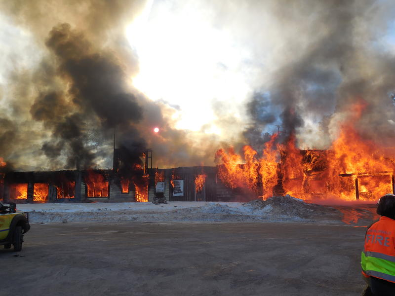 Once the fire began, the strip mall was quickly engulfed by flames.