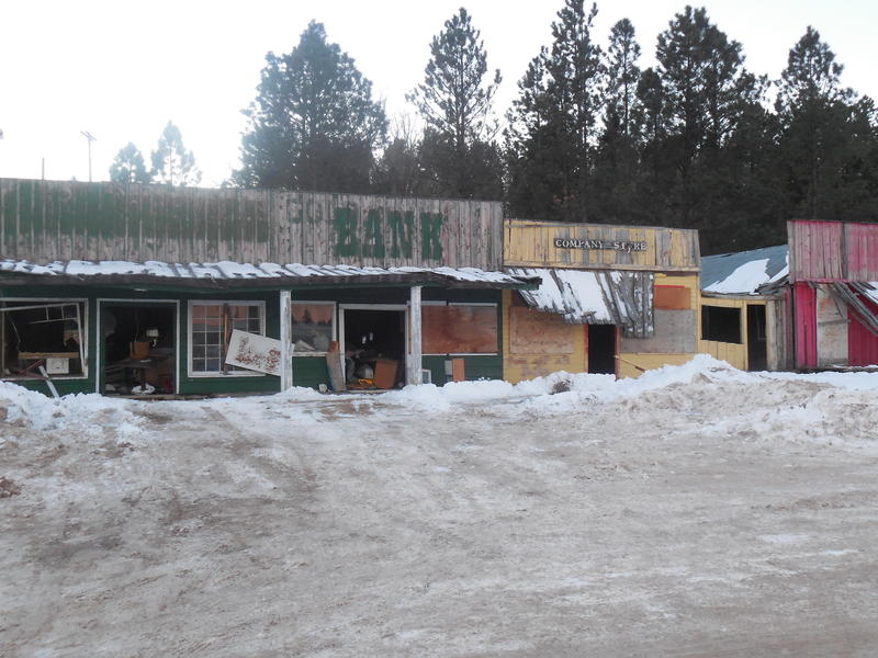 Buildings at the Rockerville strip mall before firefighters with the Rockerville Volunteer Fire Department and support companies ignited the prescribed fire.
