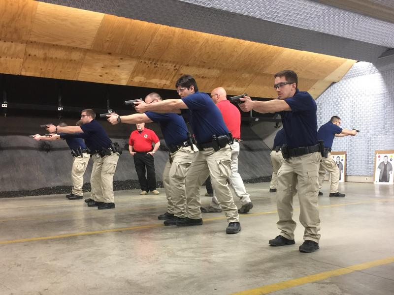 Local, county, and state officers participate in Law Enforcement Training.