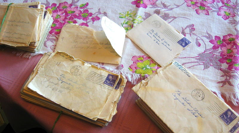 Just a few of the letters exchanged in 1951 by Gordon and Betty Wicks.