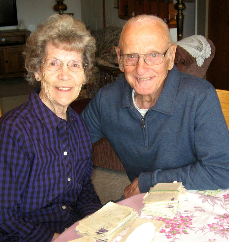 Betty and Gordon Wicks in their Rapid City home, 2017.