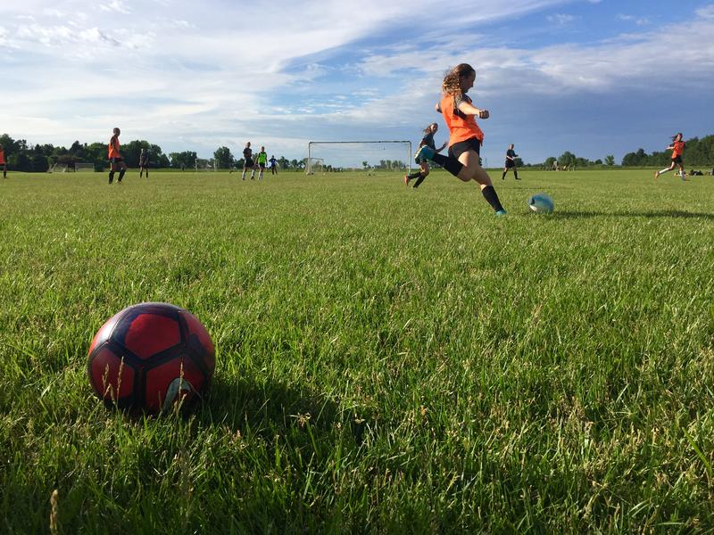 Dakota Alliance soccer players practice near Harrisburg.