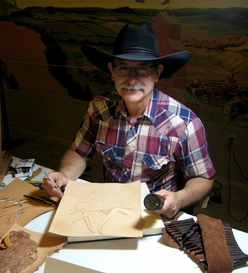 Clay Banyai, leather artist