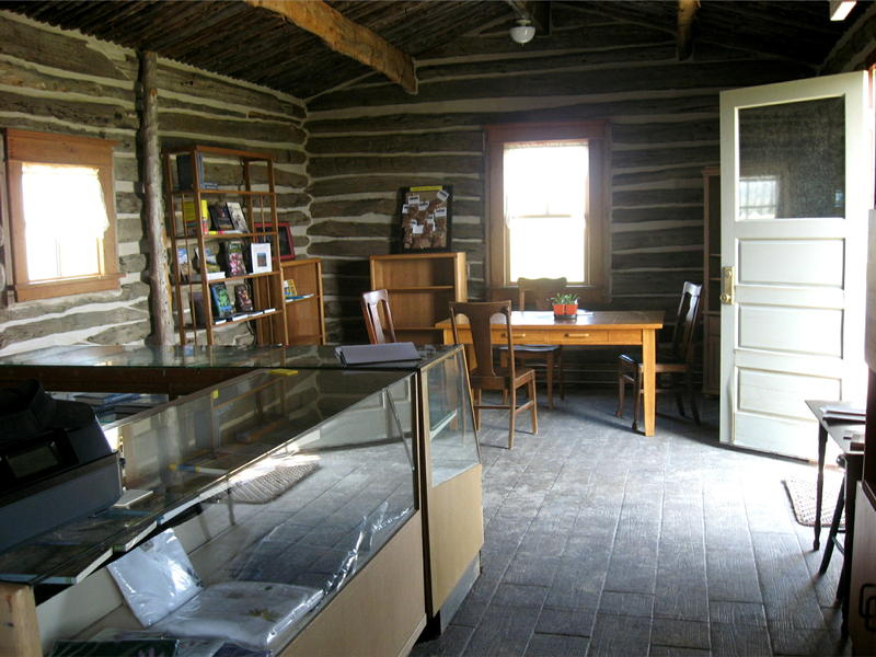 The cabin that houses the visitors center was moved to the site from elsewhere in western SD and reconstructed.