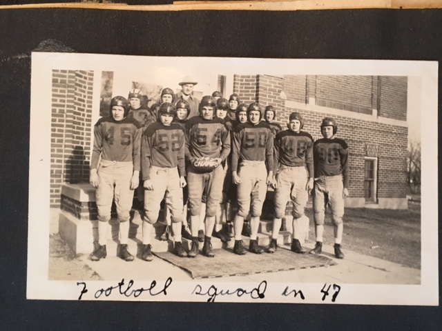 Bill Welsh's first Claremont Honkers Football Team, 1947.  The Honkers won 61 straight games between that first season and 1953.