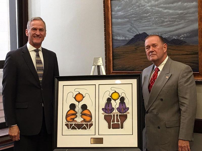 Gov. Dennis Dauggard & Canadian Consul General Paul Connors