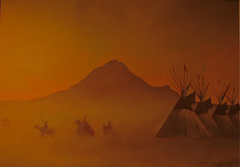 """Warriors in the Mist"" by Gerald Yellowhawk"
