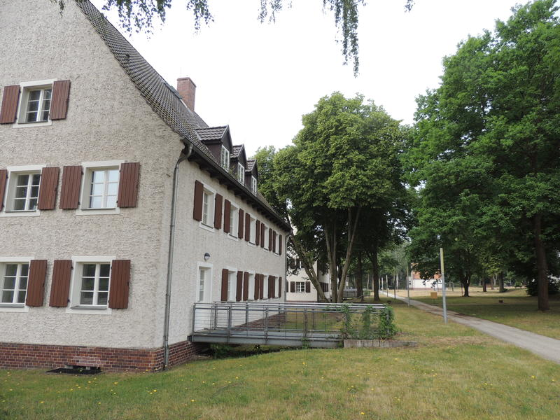 Female guard housing at Ravensbruck, where Patrick Hicks stayed during his research trip
