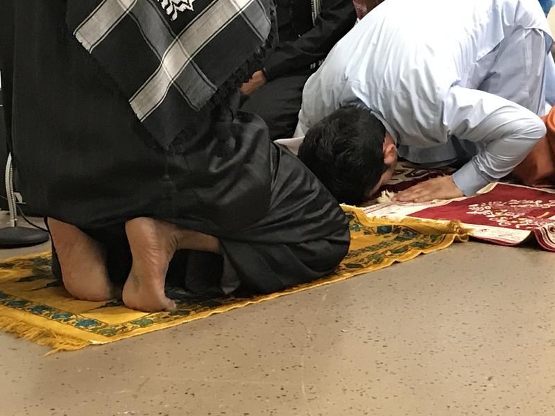 Muslims pray at Augustana Lutheran Church in Sioux Falls