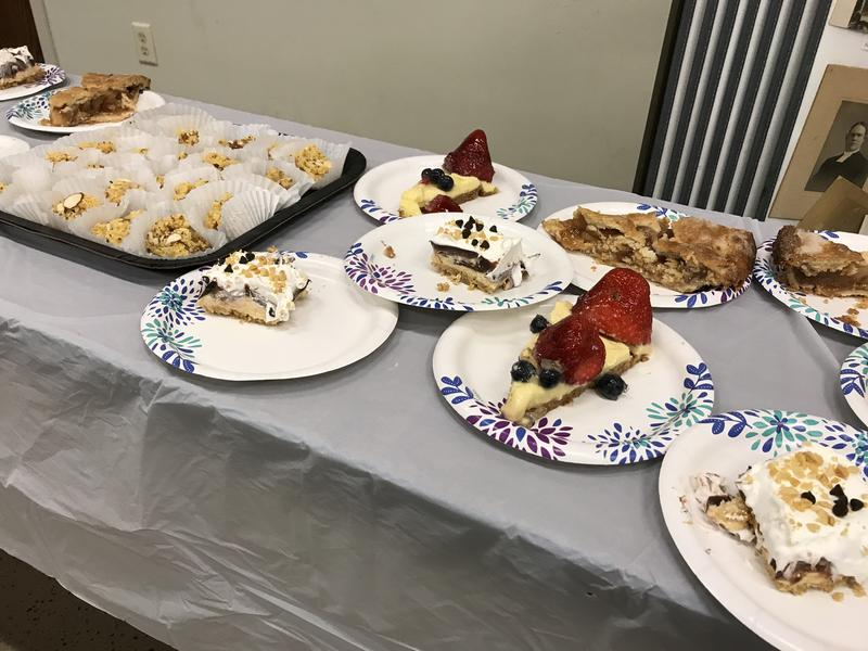 Desserts await Muslims and Lutherans at a joint gathering at Augustana Lutheran Church in Sioux Falls