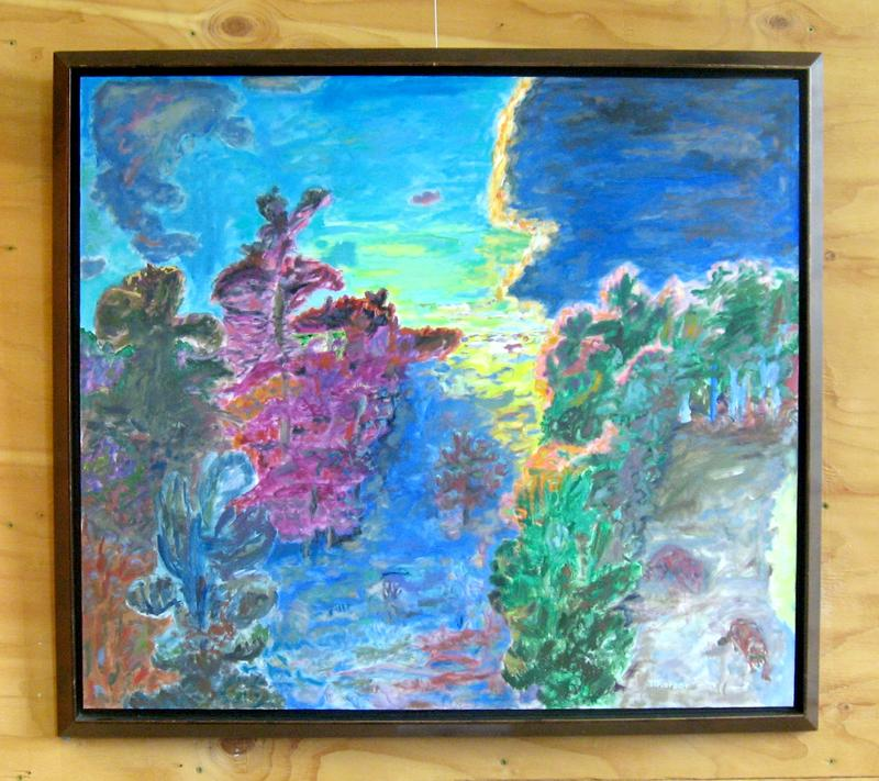 "Tom Thorson's painting ""The Edge of Day"""