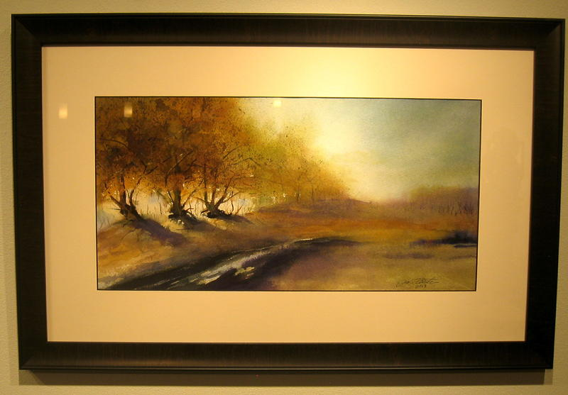 Jill Arbeiter painted this untitled work. Her technique shows the influence of the late Richard DuBois, Black Hills watercolorist.