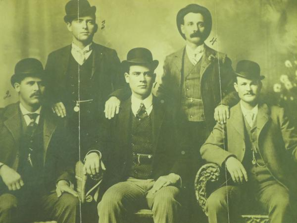 The Wild Bunch - circa 1900. Harry Alonzo Longabaugh - The Sundance Kid - is seated on the left.