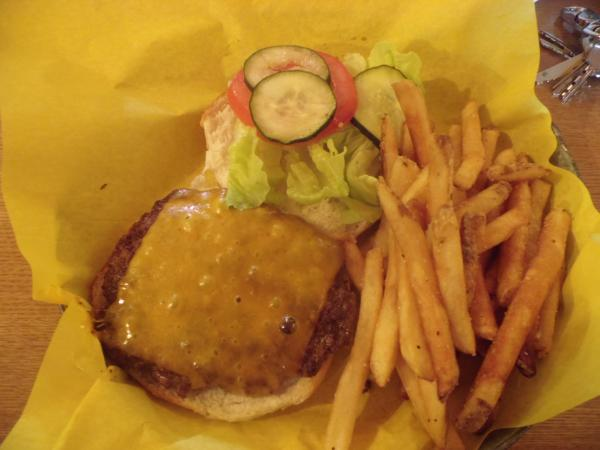 """Black Hills Burger and Bun's """"Classic Burger"""" with cheddar cheese."""