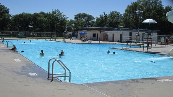 Swimmers enjoy the Vermillion City Pool during the final days of summer. Vermillion is seeking to replace their 50-year-old pool as a part of a park renovation.