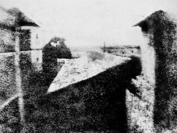 The first photograph ever taken.