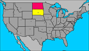 Friendly War Between The States Heats Up In South Dakota North - Map of south and north dakota