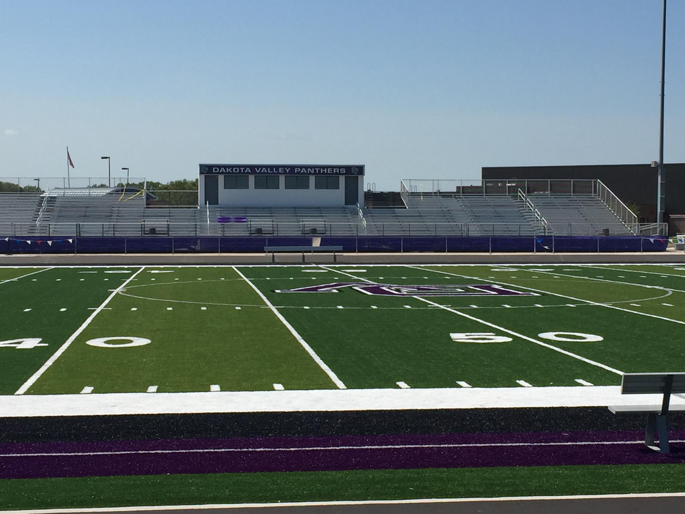 Dakota Valley High School Playing On New Football Field In State S