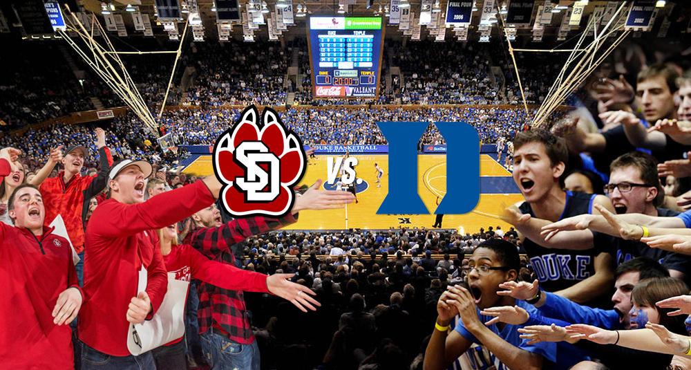 South Dakota men's basketball team to play Duke in December