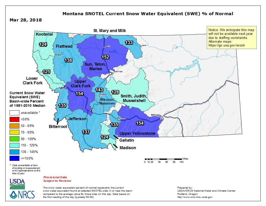 Montana Snowpack Similar To 2011 When Missouri River Flooded Sdpb