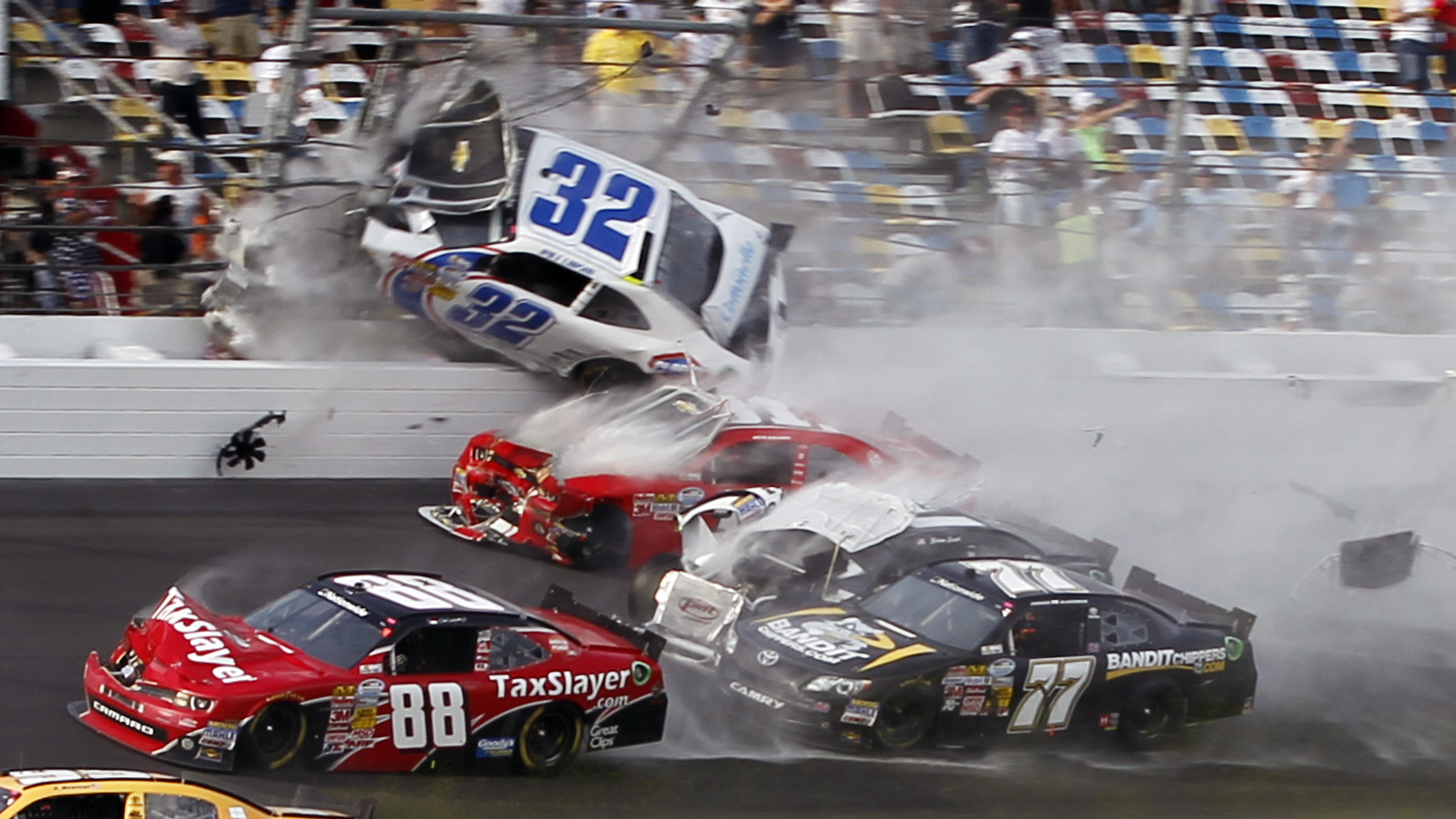 NASCAR Crash Sends Car Debris Into The Stands At Daytona | WWNO