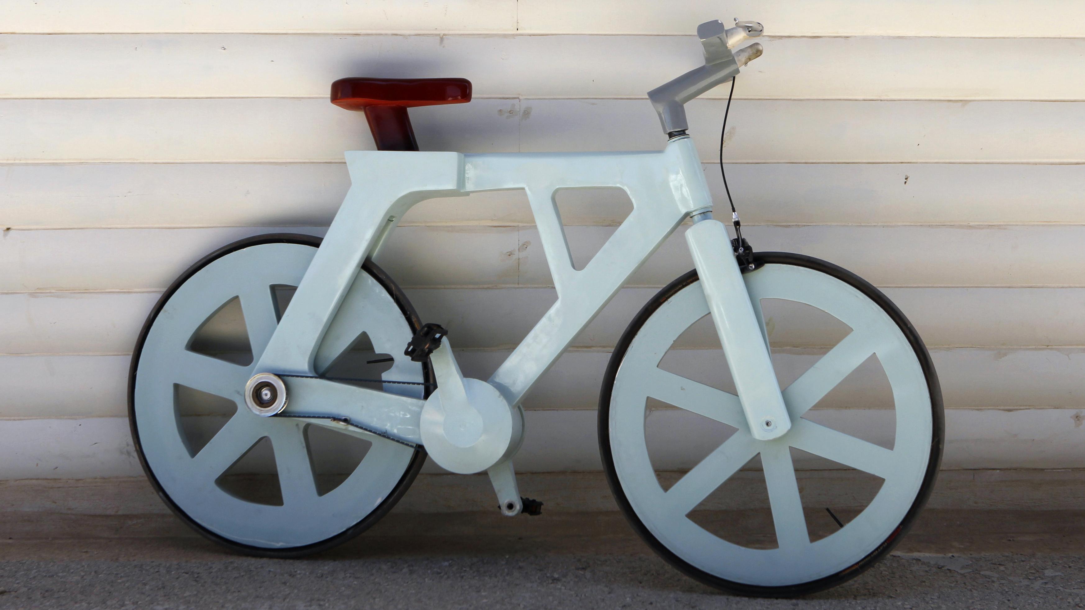 Как сделать велосипед из картона своими руками