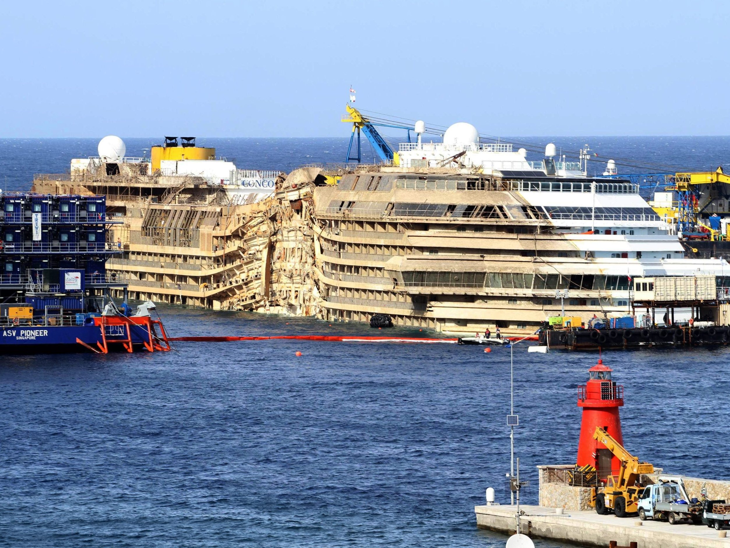 WATCH TimeLapse Video Of The Costa Concordia Being Righted WVXU - Where is a cruise ship now