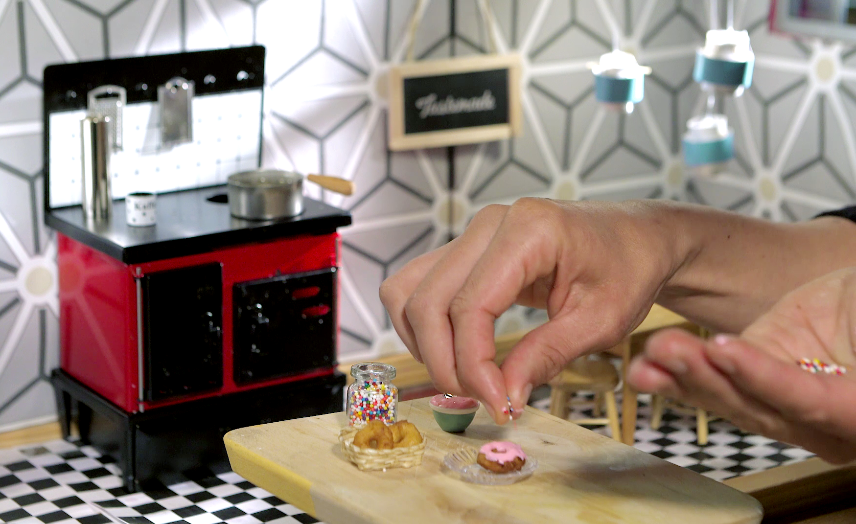 Tiny kitchen videos cook up real food in doll sized portions knkx