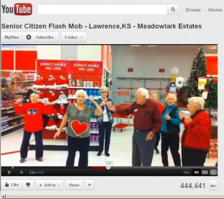 VIDEOS: Christmas-Themed 'Senior Citizen Flash Mobs' Are Spreading