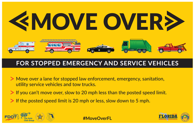 State agencies reminding drivers of florida 39 move over for Fl department of highway safety and motor vehicles