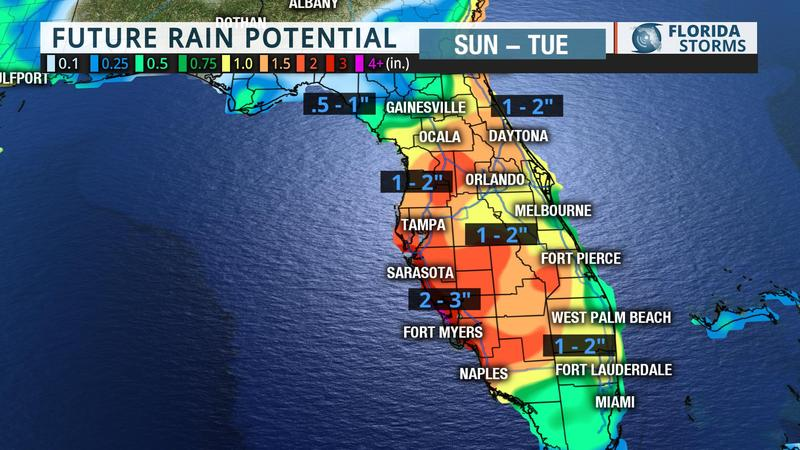 Flooding Map Florida.Numerous Flood Warnings Issued In Southwest Florida Wusf News