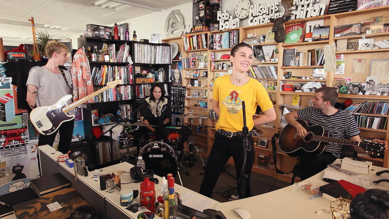 I Think Of Wolf Alice As Noisy And Primal But At The Tiny Desk Band Showed A Different Side One That Was Childlike Pretty Quietly Wonderful