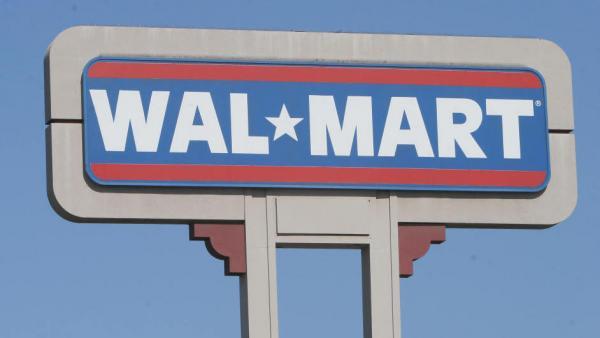 A Wal-Mart sign in Duarte, Calif.
