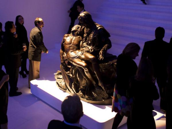 "A bronze cast of Michelangelo's <em>Pieta</em> is on display at the new Soumaya Museum in Mexico   City. The original work is a white marble sculpture. ""It's unclear to me why anybody would want a bronze version of it, and why you would display such a thing in an art museum, since it is neither a Michelangelo nor a close approximation of the Michelangelo,"" says art history professor James Oles."