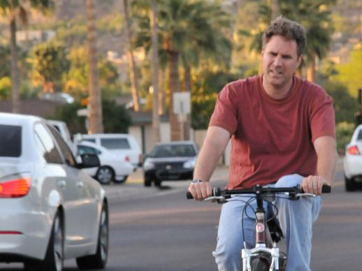 Will Ferrell on bicycle