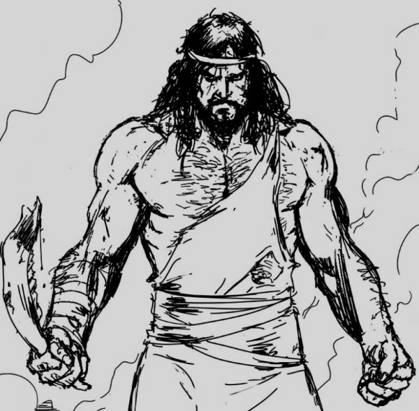 Thompson lists Samson as one of legend's top badasses, citing a story of a crazy, ultrabearded Biblical berserker who killed a thousand warriors using just the jawbone of an ass.