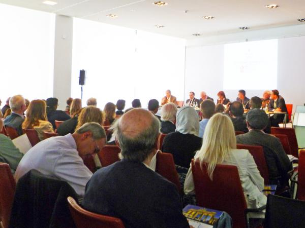 "The opening panel at PowWow was ""Political Developments in the Past 25 Years"" at the Bosch Repräsentanz building."