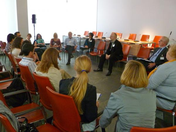 """The round table discussion """"Going Global: Media, Communication and Marketing"""" featured Stephan Meyer-Brehm."""