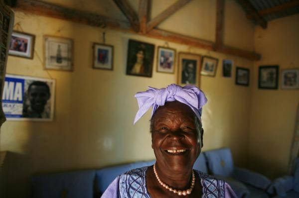 Sarah Hussein Obama, 86, the grandmother of Presidential candidate Barak Obama, poses in her home.
