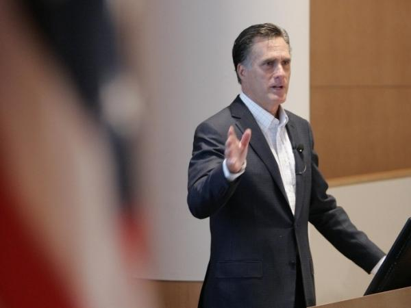 Former Massachusetts Governor Mitt Romney delivers an address on health care reform May 12, 2011 in Ann Arbor, Michigan. Romney has faced criticism from within the GOP on the health care plan he passed while he was governor.