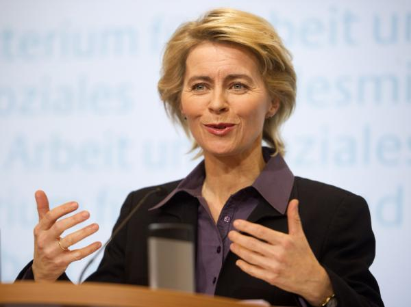 "Ursula von der Leyen, the German labor minister, says voluntary gender quotas set by companies won't be sufficient. ""I want to see concrete figures and results from the DAX top 30 post-haste. Otherwise we will start negotiating with legal measures,"" she says."