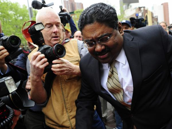 Raj Rajaratnam leaves court after he was convicted on fraud and conspiracy charges May 11 in New York. That conviction has energized the government's campaign against insider trading.