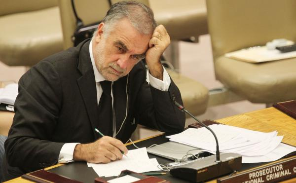 International Criminal Court chief prosecutor Luis Moreno-Ocampo after delivering a report to the UN Security Council on the situation in Libya May 4, 2011.