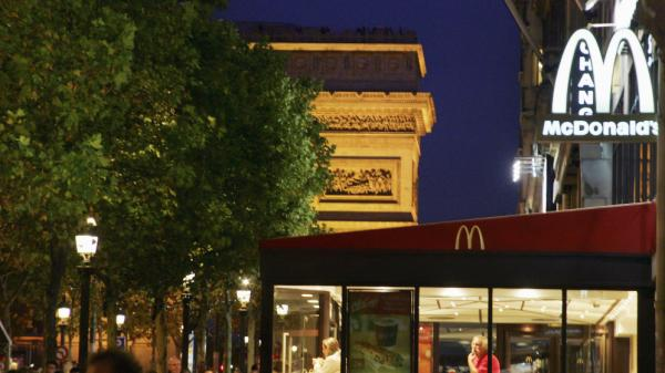 In Paris, the Arc de Triomphe looms over one McDonald's.