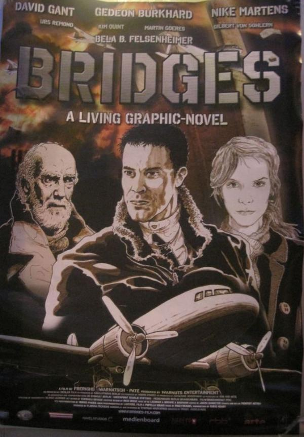 German television star Gedeon Burkhard stars in the animated short film <em>Bridges</em>.