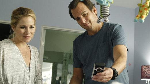 Christina Applegate and Will Arnett in NBC's <em>Up All Night</em>.