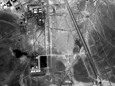 Area 51, seen from above, in 1968.