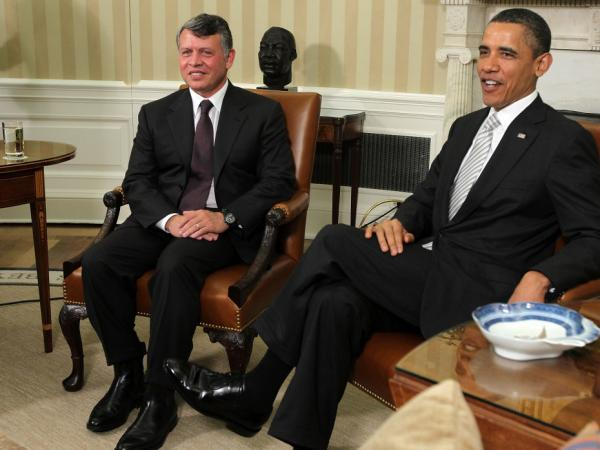 President Obama meets with King Abdullah II of Jordan on Tuesday in the Oval Office.